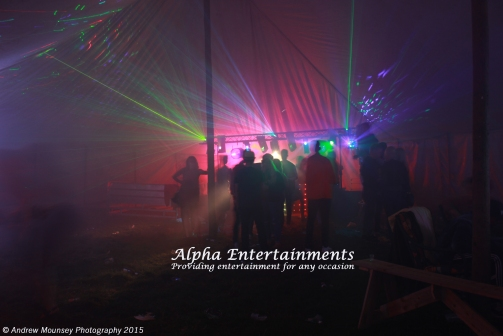 Mobile nightclub show provided for Lucy's leaving party.
